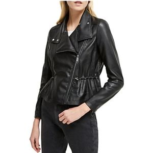 French Connection Arianna Fauz Leather Jacket